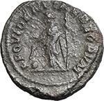 reverse:  Caracalla (198-217). Fourrée Denarius core (?), 210-213 AD.