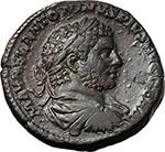 obverse:  Caracalla (198-217). AE Sestertius, 214 AD.