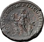 reverse:  Caracalla (198-217). AE Sestertius, 214 AD.