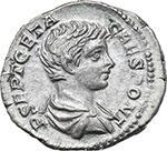 obverse:  Geta as Caesar (198-209). AR Denarius, 200-202.
