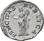 reverse:  Geta as Caesar (198-209). AR Denarius, 200-202.