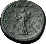 reverse:  Macrinus (217-218). AE Sestertius, 217 AD.