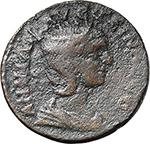 obverse:  Annia Faustina, wife of Elagabalus (221-222). AE 28mm., Ephesus mint, Ionia.
