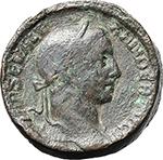 obverse:  Severus Alexander (222-235). AE Sestertius, hammered.