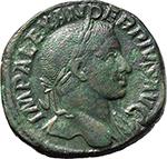 obverse:  Severus Alexander (222-235). AE Sestertius, 231-235 AD.