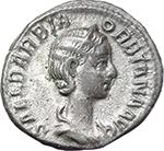 obverse:  Orbiana, wife of Severus Alexander (225-226). AR Denarius.