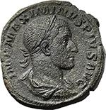 obverse:  Maximinus I (235-238). AE Sestertius, 235 AD.