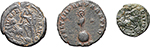 reverse:  Constantius II (337-361). Lot of 3 coins: AE 12 mm, Cyzicus mint, AE 18 mm, Antioch mint and AE 18 mm, Nicomedia mint.