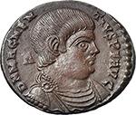 obverse:  Magnentius (350-353). AE 22 mm. 350-353 AD. Lugdunum mint.