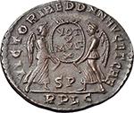reverse:  Magnentius (350-353). AE 22 mm. 350-353 AD. Lugdunum mint.
