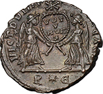 reverse:  Magnentius (350-353). AE 20 mm. 350-353 AD. Rome mint.