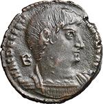 obverse:  Decentius (351-353). AE 21 mm. 350-353 AD. Rome mint.