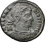 obverse:  Vetranio (350 AD). AE 24 mm. Siscia mint.