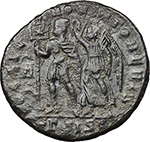 reverse:  Vetranio (350 AD). AE 24 mm. Siscia mint.