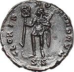 reverse:  Vetranio (350 AD). AE 18 mm. Siscia mint.