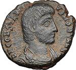 obverse:  Constantius Gallus Caesar (351-354 AD). AE Follis, 348-350 AD. Antioch mint.
