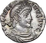 obverse:  Julian II (360-363). AR Reduced Siliqua, Treveri mint.