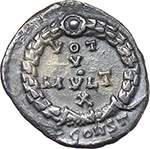 reverse:  Jovian (363-364). AR Reduced Siliqua, Arelate mint.