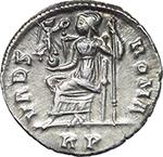 reverse:  Valentinian I (364-375). AR Reduced Siliqua, Rome mint.