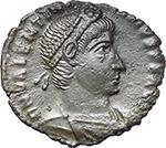 obverse:  Valentinian I (364-375). AE 18 mm. Rome mint. Struck 364-367 AD.