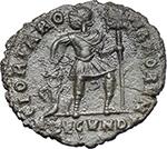 reverse:  Valentinian I (364-375). AE 18 mm. Rome mint. Struck 364-367 AD.