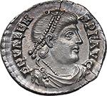obverse:  Valens (364-378). AR Reduced Siliqua, Treveri mint.