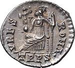 reverse:  Valens (364-378). AR Reduced Siliqua, Treveri mint.