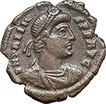 obverse:  Valens (364-378). AE 20 mm, 367-375 AD. Rome mint.