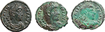 obverse:  Valens (364-378). Lot of 3 AE, Rome mint.