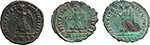 reverse:  Valens (364-378). Lot of 3 AE, Rome mint.