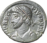 obverse:  Procopius (365-366). AE 19mm. Uncertain mint.