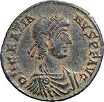 obverse:  Gratian (367-383). AE 23mm. Siscia mint. Struck 378-383 AD.