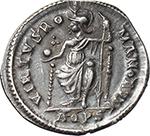 reverse:  Valentinian II (375-392). AR Reduced Siliqua, Aquileia mint.