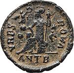reverse:  Valentinian II (375-392). AE 18 mm, Antioch mint. Struck