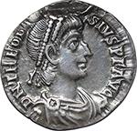 obverse:  Theodosius I (379-395). AR Reduced Siliqua, Aquileia mint.