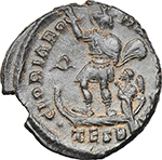reverse:  Theodosius I (379-395). AE 22 mm. Thessalonica mint. Struck circa 383-384 AD.