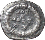 reverse:  Theodosius I (379-395). AR Half Siliqua (?), uncertain mint.
