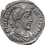 obverse:  Magnus Maximus (383-388). AR Reduced Siliqua, Mediolanum mint.