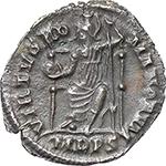 reverse:  Magnus Maximus (383-388). AR Reduced Siliqua, Mediolanum mint.
