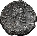 obverse:  Eugenius (392-394). AE 13 mm. 392-394 AD. Arelate mint.
