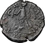 reverse:  Eugenius (392-394). AE 13 mm. 392-394 AD. Arelate mint.
