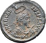 obverse:  Arcadius (383-408). AE 24 mm, 383 AD. Antioch mint.