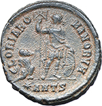 reverse:  Arcadius (383-408). AE 24 mm, 383 AD. Antioch mint.