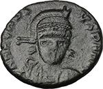 obverse:  Arcadius (383-408). AE 16 mm, uncertain mint. Struck 401-403 AD.