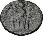 reverse:  Arcadius (383-408). AE 16 mm, uncertain mint. Struck 401-403 AD.