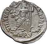 reverse:  Honorius (393-423). AR Reduced Siliqua, Mediolanum mint.