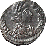 obverse:  Jovinus (411-413). AR Reduced Siliqua, Lugdunum mint.