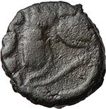 reverse:  Johannes (423-425). AE 9mm., Rome mint.