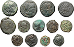 obverse:  Roman Republic. Lot of 13 AE unclassified.