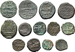 reverse:  Roman Republic. Lot of 13 AE unclassified.